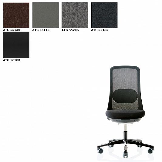 Bureaustoel Wit Leer Metalen Voet.Hag Sofi 7500 Mesh Bureaustoel Leder Antigo Soft